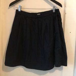 J CREW navy pleated skirt